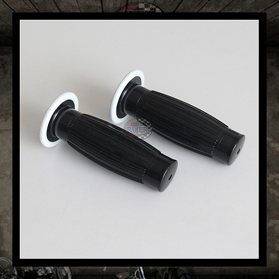 Black Old Style Lux handlebar grips 22mm