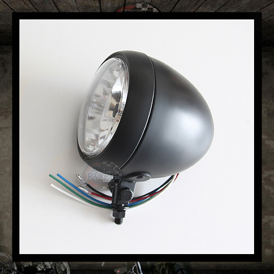 Bates Bullet Headlamp Matt Black E4 approved - 5""