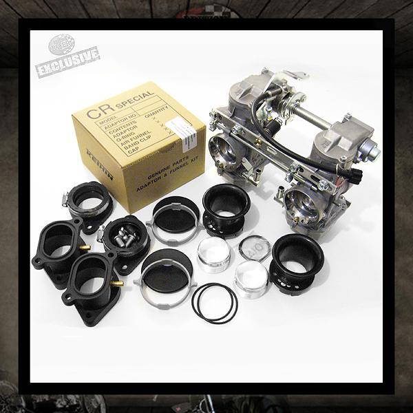 Triumph KEIHIN Kit Carburetors CR35 + Billet Intake Manifolds