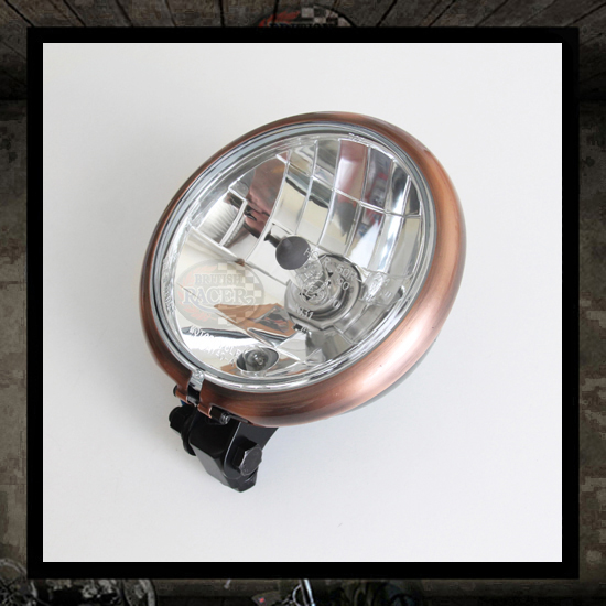 "5 3/4"" Copper ""Bates"" headlight PRISM E9 E-marked"