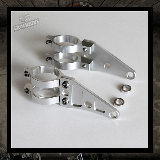 CNC machined aluminum headlight brackets
