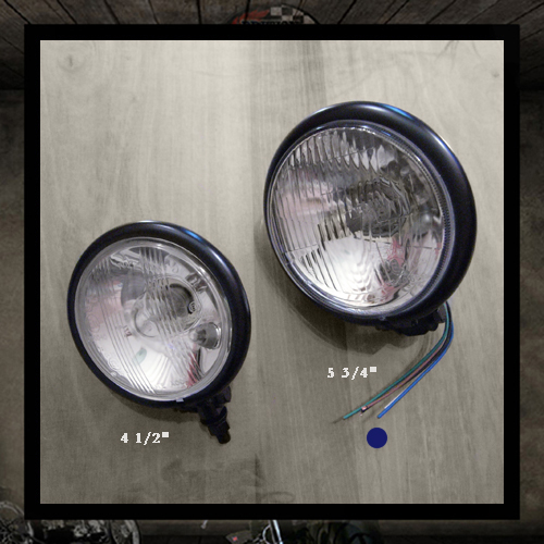 Bates Headlamp Black E4 approved - 5 3/4""