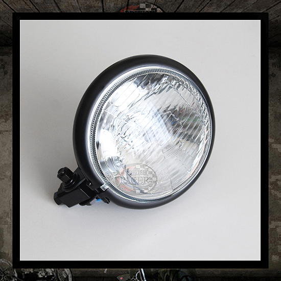 "5 3/4"" Black ""Bates"" headlight E4 E-marked"
