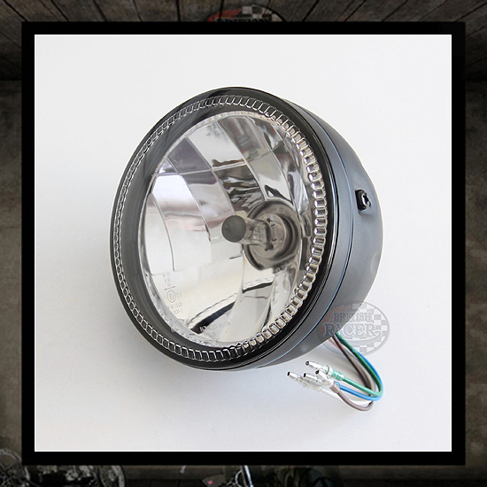 "HS ""Skyline"" Headlamp Black E9 approved - 5 3/4"""