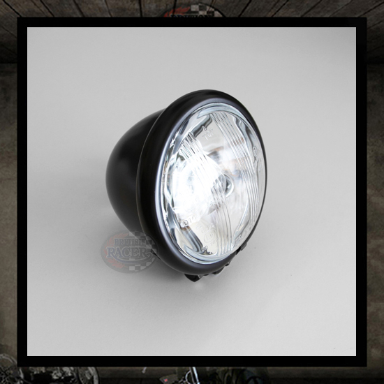 "4 1/2"" Black ""Bates"" headlight E11 E-marked"