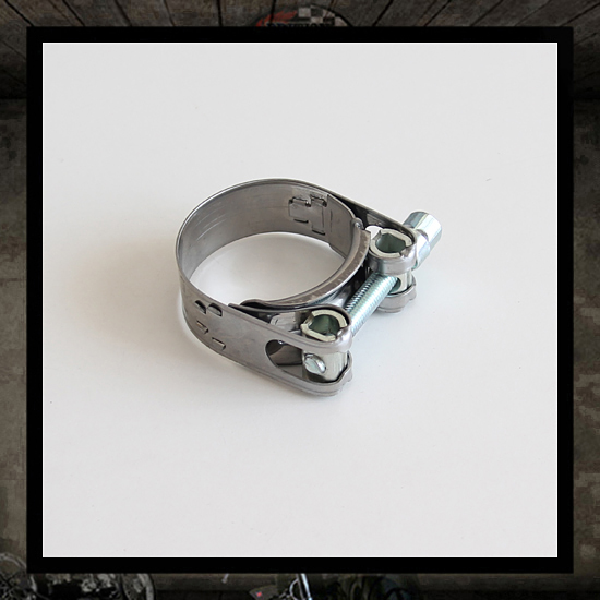 Exhaust stainless steel clamp, 43-47 mm
