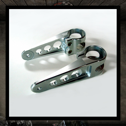 Joker silver headlight brackets � 41 mm