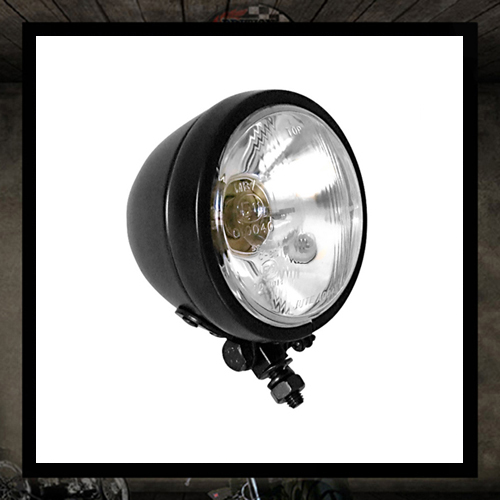 "4 1/2"" Black ""Burn"" headlight E11 E-marked"