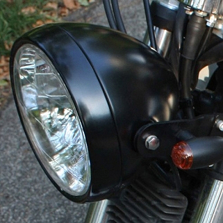 Clubman Headlamp Matt Black E4 approved - 6 1/2""