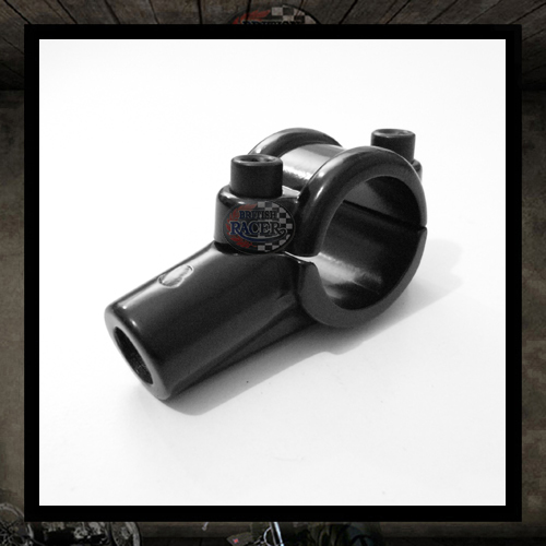 black mount mirror bracket Ø 22 mm handlebar