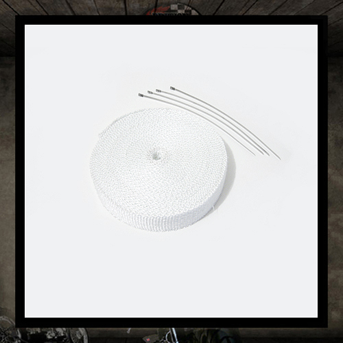 White heat resistant exhaust wrap