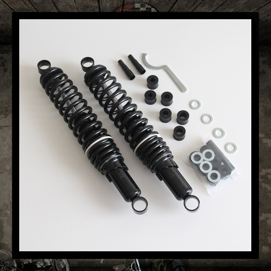 Pair Black Classic Shock Absorbers 340 / 365 mm