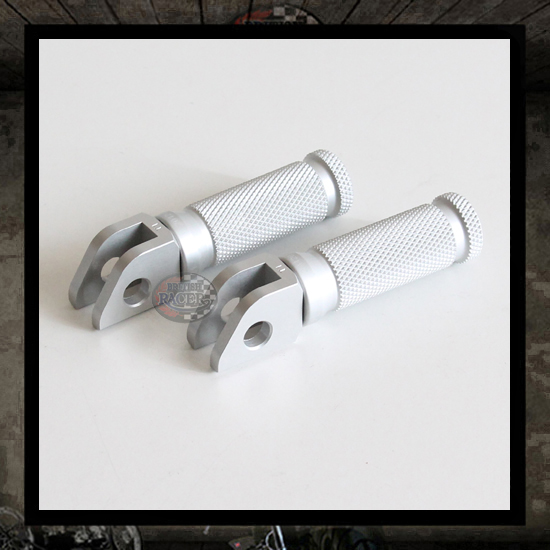 "LSL Racing silver footpegs ""Front"" Triumph Legend"
