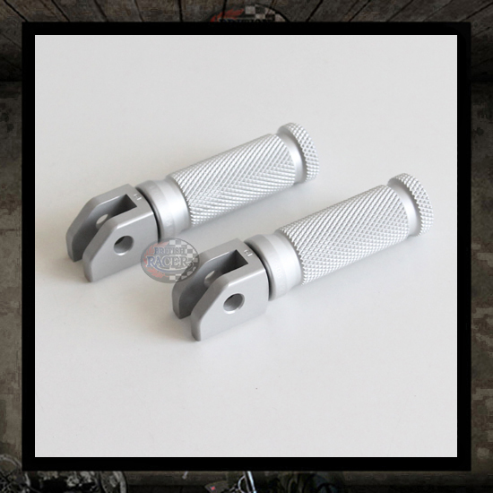 "LSL Racing silver footpegs ""Front"" Triumph Thruxton"