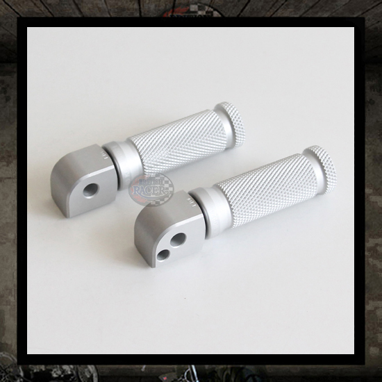 "LSL Racing silver footpegs ""Rear"" Triumph Thruxton"