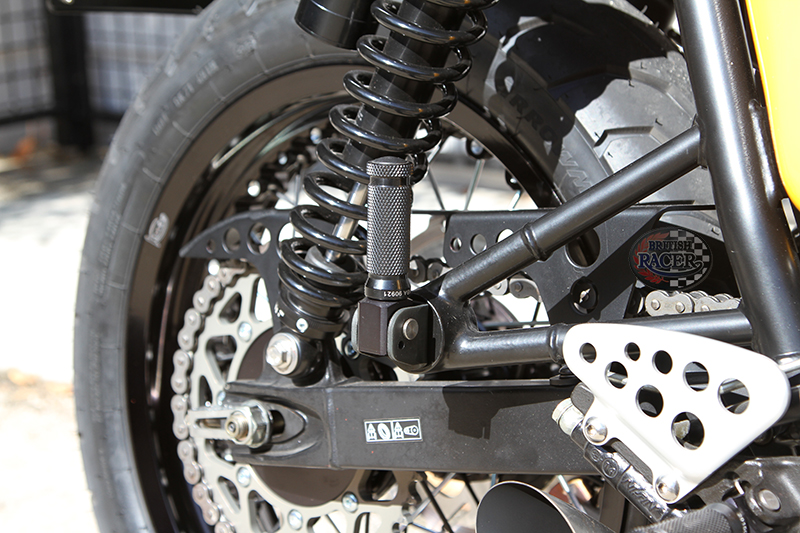 LSL Racing footpegs rear Triumph Thruxton (air cooled)