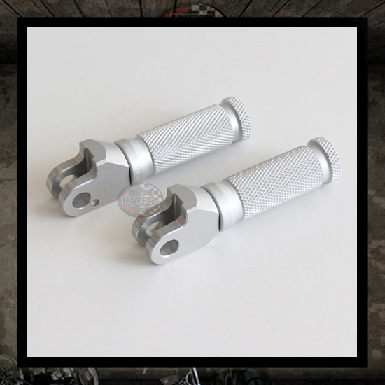 "LSL Racing silver footpegs ""Rear"" Bonneville�Scrambler"