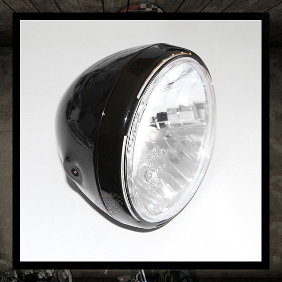 LED Clubman ACE 2 Headlamp Black E4 approved - 7""