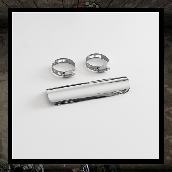 Heat shield chrome short