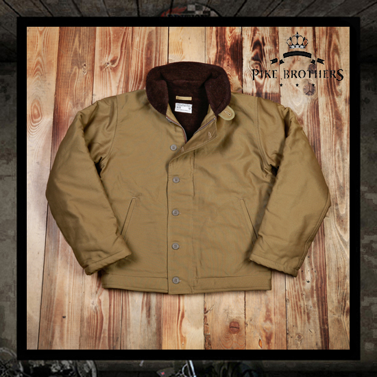 Pike Brothers 1944 N-1 Deck Jacket - Khaki