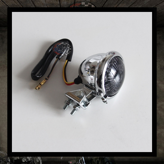 Mini taillight Bates Chromed/Smoke lens E-marked - LED