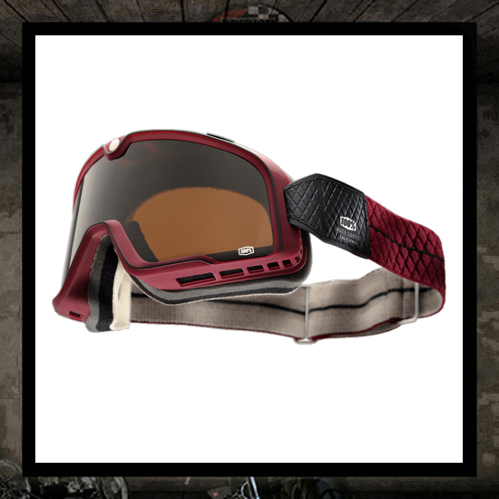 """The Barstow"" Burgundy goggles"