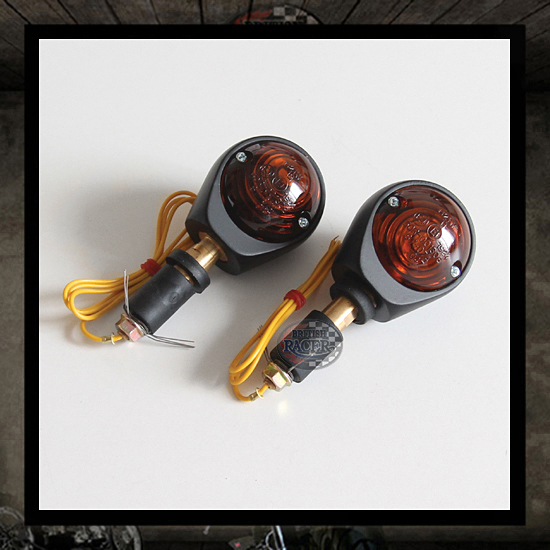 "Ochsenauge Bar End turn signals ""Smoke lens"" E-marked"