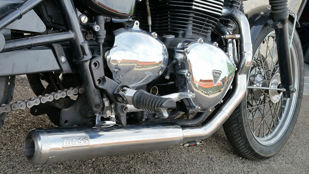 Mass Cross exhaust 2 into 1 - Triumph (air cooled)