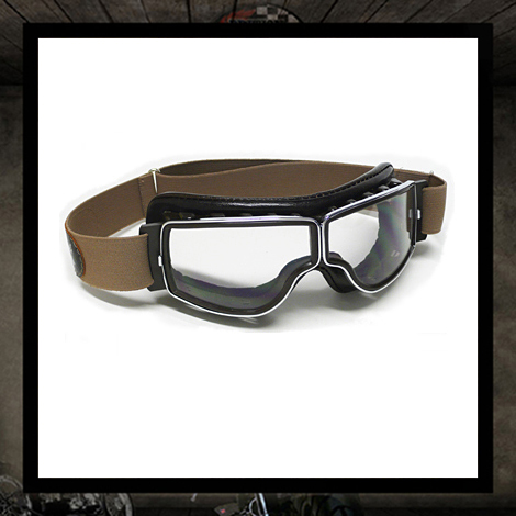 Aviator goggles PilotT2 Marron Vieilli Clear lenses