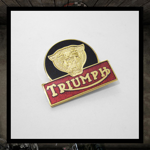 Pin badge Triumph Tigers Head Gold