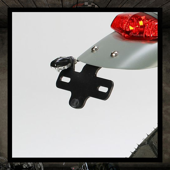 Plate holder LSL Clubman with LED lighting