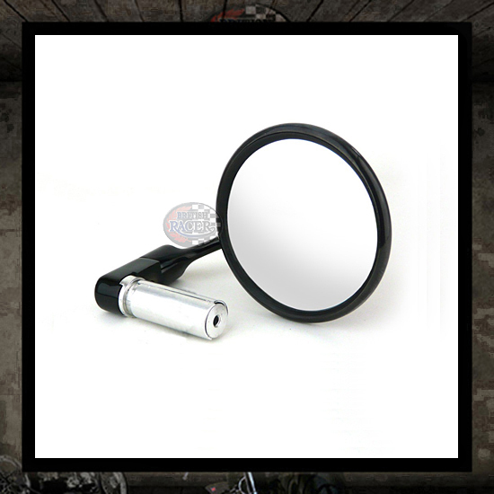 Halcyon Round Bar End mirror Black