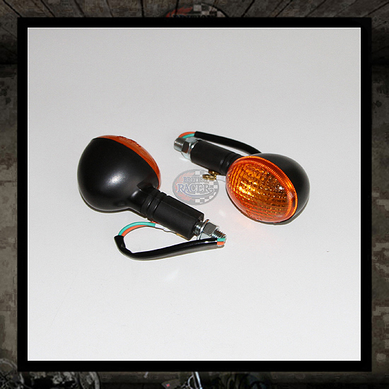Black oval turn signals E-marked