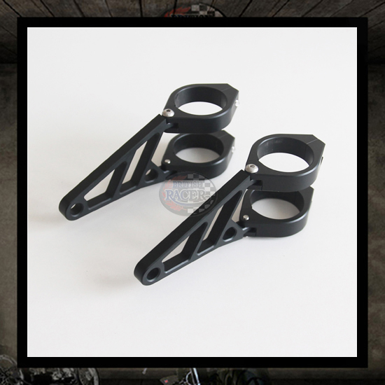 HS headlight brackets Ø 39>54 mm with indicators hole