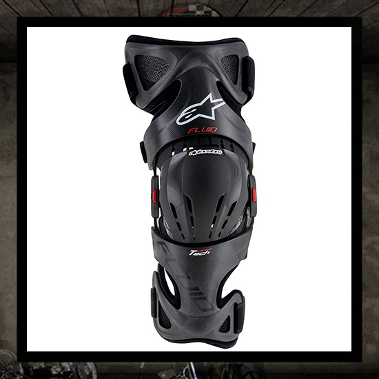 Apinestars fluid tech carbon knee brake - right