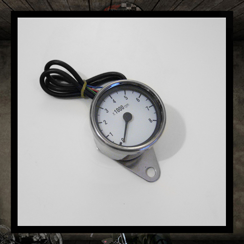 mini tachometer white Ø 60mm