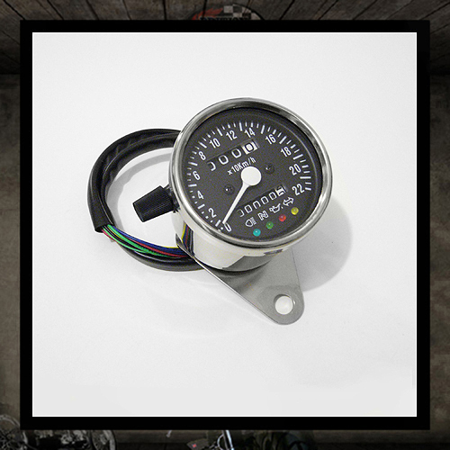 Mini speedometer black