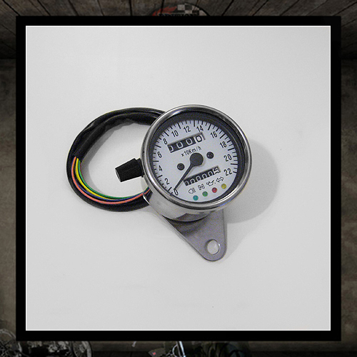 Mini speedometer white