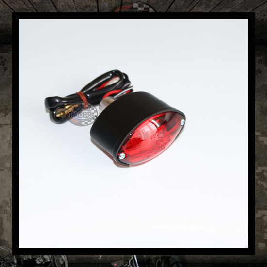 Cat Eye Mini Taillight Black Red lens E-marked