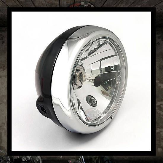 Six Days black/chrome headlamp E9 approved