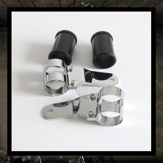 """Road"" chrome headlight brackets � 41/43 mm"