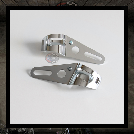 """Rebels"" chrome headlight brackets � 41 mm"