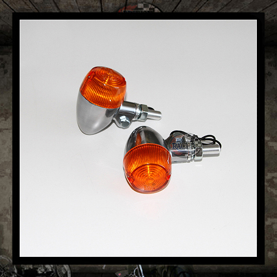 British bullet aluminum turn signals E-marked