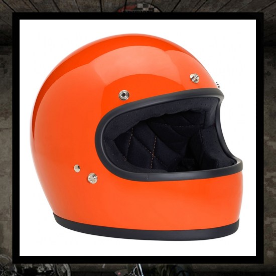 Biltwell Gringo Helmet Gloss Hazard Orange