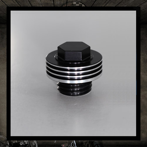 Black oil cap