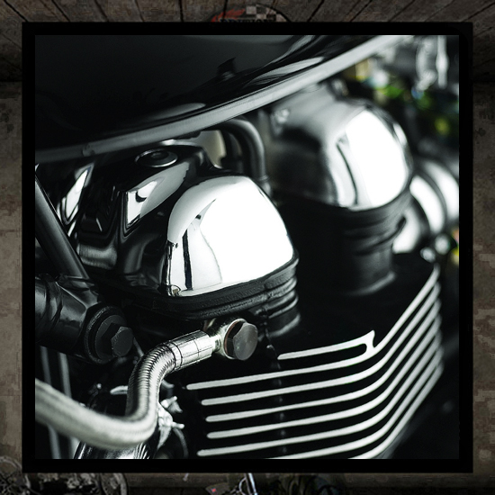 Triumph chrome cam cover - genuine accessory