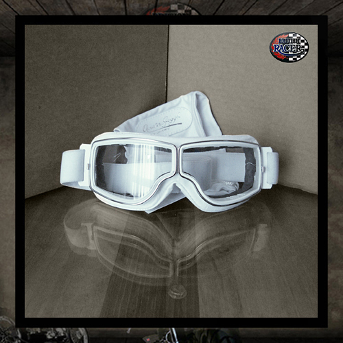 Aviator goggles PilotT2 white Clear lenses