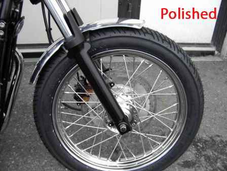 front aluminium mudguard 4 holes MAS engineering