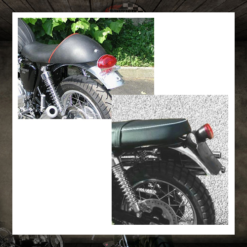 Rear aluminium mudguard MAS engineering