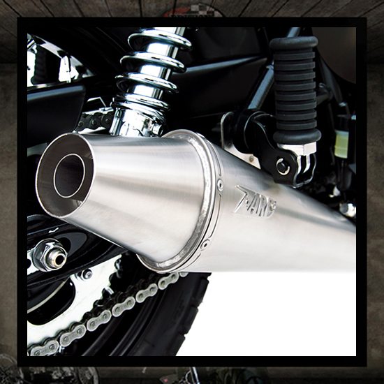 "Zard exhaust 2 into 1 ""Low"" Bonneville-Thruxton-Scrambler"